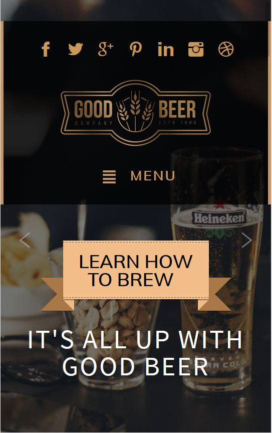 a link to an example of a brewery website