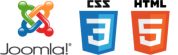 We use Joomla, CSS 3 and HTML55
