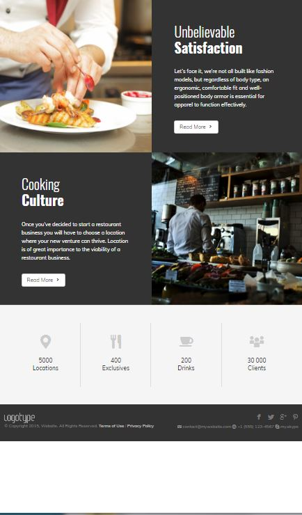 link to restaurant example website
